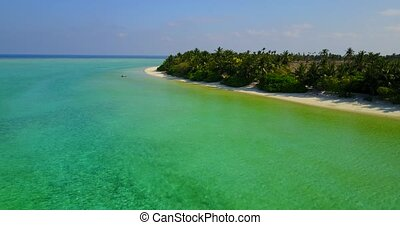 v05307 Aerial flying drone view of Maldives white sandy...