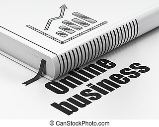 Business concept: book Growth Graph, Online Business on...
