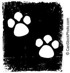 Traces Of The Animal On The Pavement. Vector