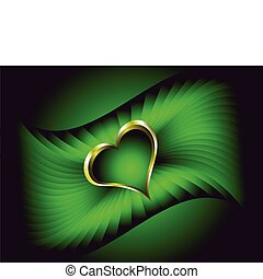 A valentines vector illustration with a gold heart