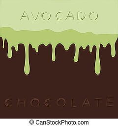 avocado - Abstract vector illustration logo green fruit...