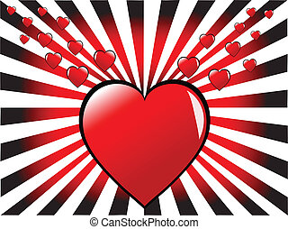 A red hearts vector valentines day background