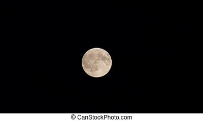 Full moon time lapse footage
