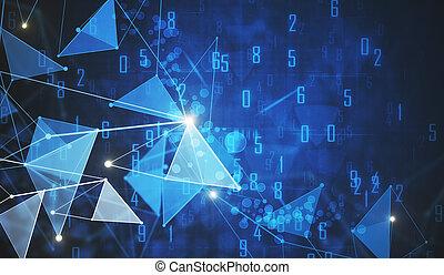 Digital polygonal backdrop