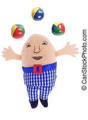 Humpty Dumpty Soft Toy on White Background