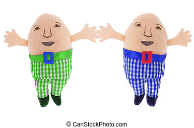Humpty Dumpty Soft Toys on White Background