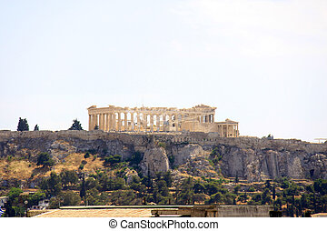the famous parthenon monument of athens, greece