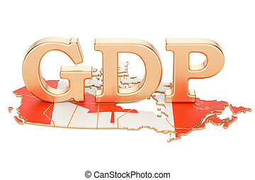 gross domestic product GDP of Canada concept, 3D rendering...