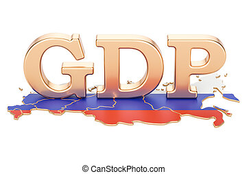 gross domestic product GDP of Russia concept, 3D rendering...