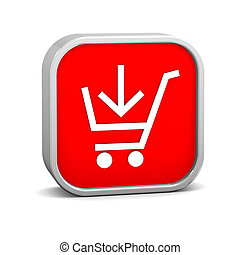 Add to Cart Sign - Add to cart sign on a white background...