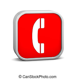 Phone Sign - Phone sign on a white background. Part of a...