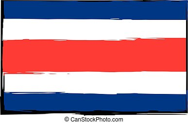 abstract COSTA RICA flag or banner vector illustration