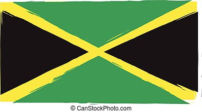 abstract JAMAICAN flag or banner vector illustration