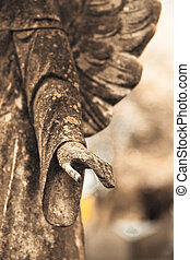 Princeton Cemetery - Details of the hand of a beautiful...