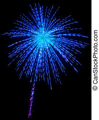 Celebration - festive fireworks at night
