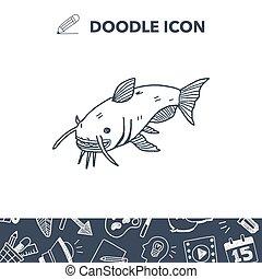 Catfish doodle