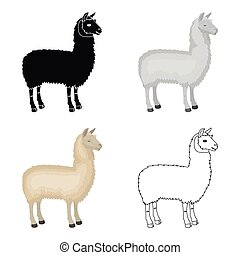 Lama, a South American pack animal. A lame, a cloven-hoofed...