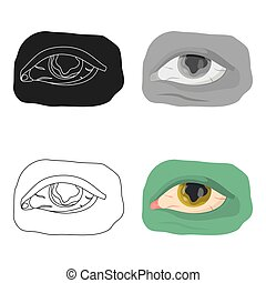 Eye single icon in cartoon style.Eye, vector symbol stock...