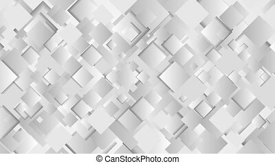 Abstract grey squares technology video animation - Abstract...