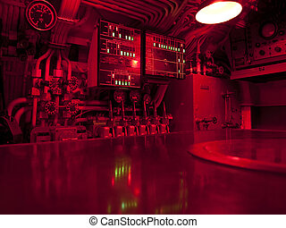 Submarine Command Center - The command center of a WWII...
