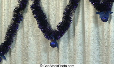 New Years Medal - Christmas medal weigh on the curtains....