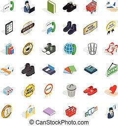 Operator icons set, isometric style - Operator icons set....