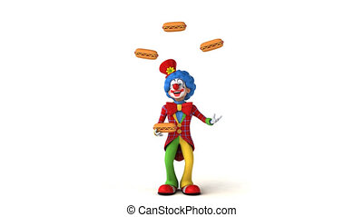 Clown juggling - 3D Animation