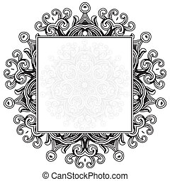 Vector Ornamental Frame - Ornate vector frame Easy to edit...