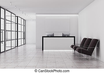 Contemporary reception - Contemporary office interior with...
