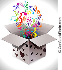 gift box abstract illustration full of colors,vector...