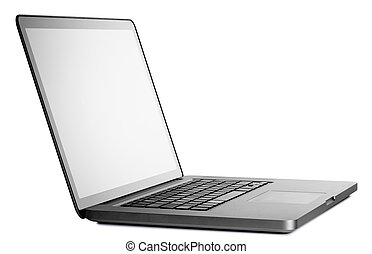 Design laptop in perspective isolated on white with clipping...