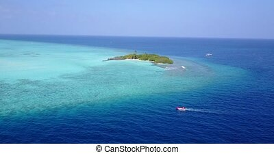 v05339 Aerial flying drone view of Maldives white sandy...