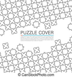 Puzzle cover art color background. Vector illustration