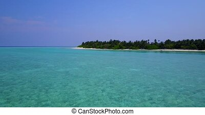 v05221 Aerial flying drone view of Maldives white sandy...