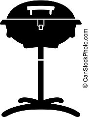 Kettle barbecue grill, shade picture