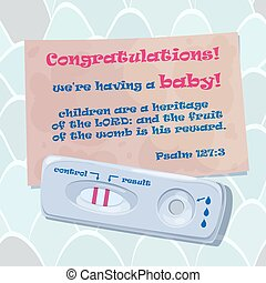 Vector illustration of congratulation of dad with the onset...