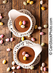 chocolate mousse for easter day