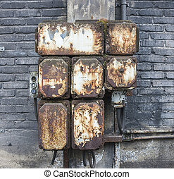 corroded electrical cabinet