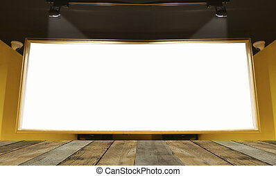 Empty wooden table floor for present and show products in...