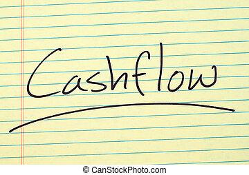 "Cashflow On A Yellow Legal Pad - The word ""Cashflow""..."