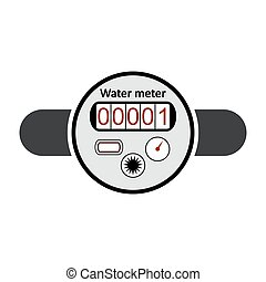 Water meter icon. - Water meter icon on white background....