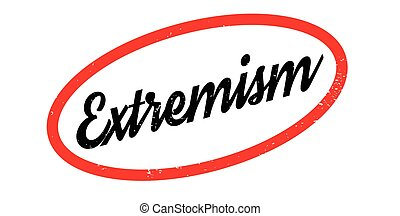 Extremism rubber stamp. Grunge design with dust scratches....