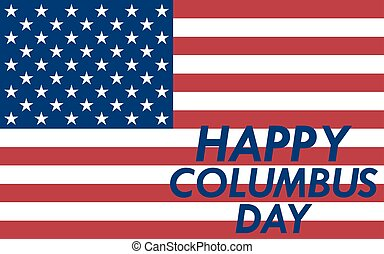 Holiday in the US Columbus Day vector illustration