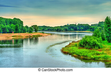 The Kotorosl River in Yaroslavl, Russia - The Kotorosl River...