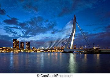 Erasmus Bridge, Rotterdam, Netherlands - Erasmus Bridge...