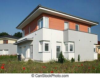 villa, building, - villa, buildings