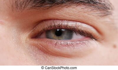 Close-up of young man eye