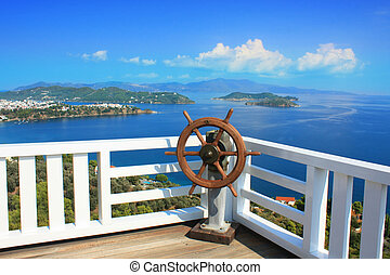 Panorama - Beautiful panorama of islands, on a clear sunny...