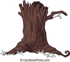 Tree Stump - Illustration of tree stump