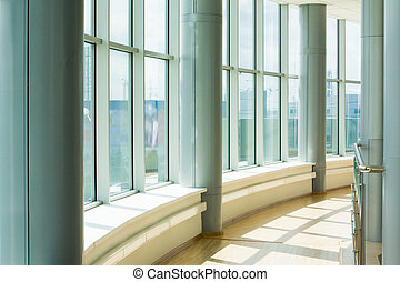 Corridor - Image of corridor in office building with big...